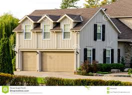 triple garage with an apartment upstairs stock photo image 35840530