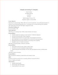 Career Objective In Cv For Accountant Accountant Resume Accountant Sample