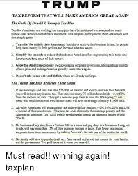 trump tax reform t r u m p tax reform that will make america great again the goals of