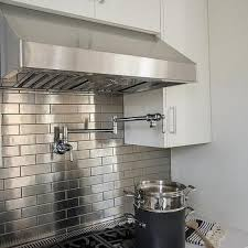 kitchens with stainless steel backsplash stainless steel running brick tile stainless steel backsplash