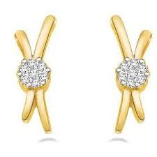 stylish gold earrings stylish diamond stud earrings in gold by sparkles gold earrings