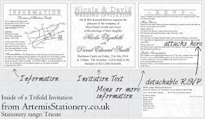 tri fold invitation template ideas for booklet trifold pocketfold and bifold wedding