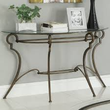 Chrome And Glass Sofa Table The Glass Sofa Table For Your Simple And Clean Living Room