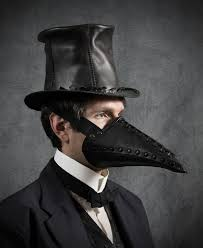 plague doctor halloween costume corax riveted plague doctor half mask in black