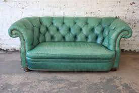 teal chesterfield sofa liberty 33rd vintage teal tufted leather chesterfield sofa by