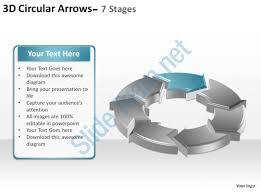 3d circular arrows process smartart 7 stages ppt slides diagrams