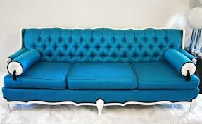 Plush Leather Sofas by Going Easy To Relax On A Blue Leather Sofa Designoursign