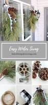front porch decorating winter swag front porches diy christmas