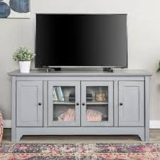 White Tv Cabinet With Doors White Tv Stands For Less Overstock