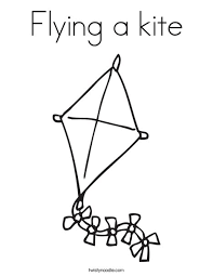 flying kite coloring twisty noodle
