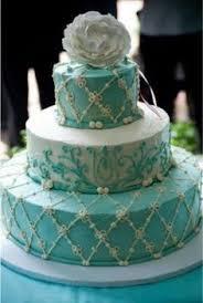 tiffany blue wedding cake prachtige taarten huwelijk pinterest