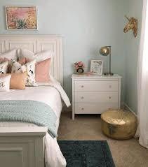 soft pink wall paink cream wooden dresser broken white nightstand