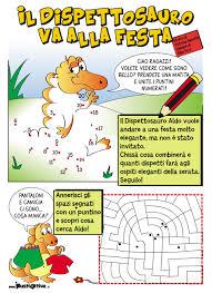 il dispettosauro storia e gioco stampabile per bambini gratis
