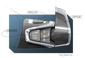 Interior Design Sketches by Bmw I3 Interior Design Sketch Gear Selector Sketches