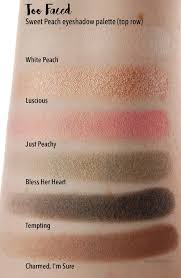 review too faced sweet peach eyeshadow palette u2013 swatch and