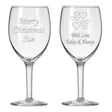 wine glass birthday personalised christmas wine glass engraved with christmas designs