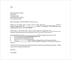 letter to interviewee format