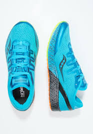 saucony freedom iso neutral running shoes blue men sports