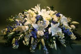 casket spray blue casket spray jephry floral studio