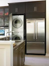 laundry in kitchen design ideas small kitchen remodel blending and new walnut doors dryer