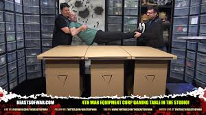 expandable game table cardboard gaming table costs and science and s t yo