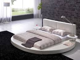 round platform bed amazing white leatherette round platform bed contemporary bedroom