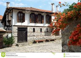 traditional house from zlatograd bulgaria royalty free stock