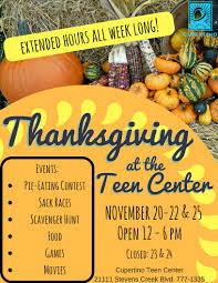 extended thanksgiving hours at the cupertino center