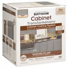 rustoleum kitchen cabinet paint rust oleum gloss cabinet gray interior paint kit in the