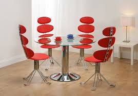 unique kitchen table sets fascinating glass dining table red com herpowerhustle in unique room