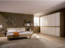 Wallpaper For Bedrooms Bedroom Chocolate Paint Wall White Wood Wardrobe Grey Rug White