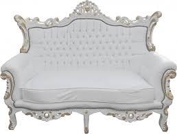 canapé mobilier de padrino baroque canapé 2 places maître blanc or mod2 mobilier de