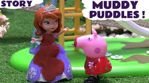 peppa pig muddy puddles episode sofia play doh