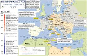 Map Of Europe 1939 by The European And Pacific Theaters Of World War Ii American
