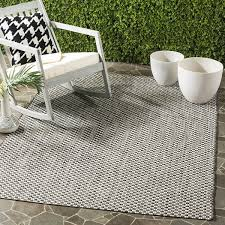 Safavieh Courtyard Indoor Outdoor Rug by Safavieh Courtyard Collection Cy8653 37621 Black And Light Grey