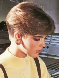 feathered hair 1980s hairstyles and short haircuts of the eighties with a clipped up
