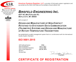 iso 9001 2015 certified design u0026 manufacturing binsfeld engineering