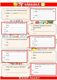 27 free esl if clauses worksheets