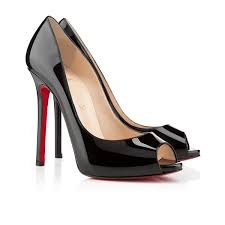 new cheap christian louboutin flo 120mm peep toe pumps black red
