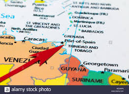 Map Of Sounth America by Red Arrow Pointing Trinidad And Tobago On The Map Of South America