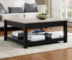 ameriwood furniture carver coffee table black weathered oak