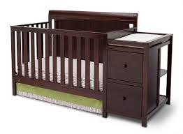 How To Convert A Crib To Toddler Bed by Delta Children Vintage Espresso Chatham Crib U0027n U0027 Changer