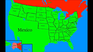 The United States In The World Map by Alternate Future Of The United States Youtube