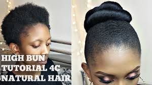 twa hairstyles 2015 how to high bun on twa short 4c natural hair youtube