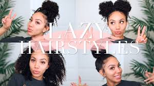 on the go hairstyles lazy hairstyles for curly hair quick easy on the go youtube