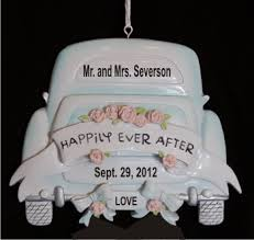 personalized ornaments wedding white limo wedding ornament christmas ornament