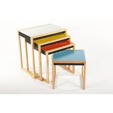 mid century modern reproduction bauhaus nesting tables
