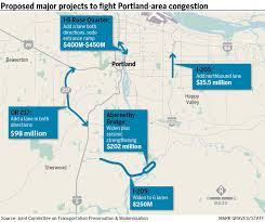 Portland Traffic Map by Transportation Plan Calls For 1 1b To Reduce Portland Area