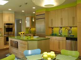 perfect green paint color for stylish kitchen design with light