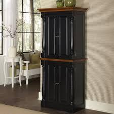 Kitchen Pantry Cabinet Furniture Organized Black Kitchen Pantry New Home Design